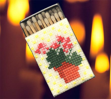 image of Geraniums Matchbox