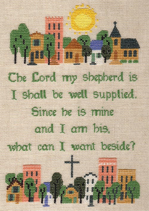 Image of The Lord My Shepherd Is sampler